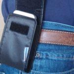 Phone hip holster promotes bone cancer