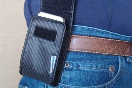 Phone hip holster promotes bone cancer