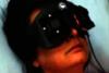 Red light eye goggles