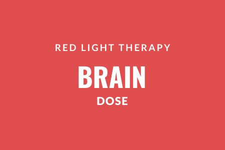 Red light therapy brain dose