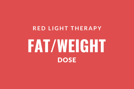 Green light therapy fat and weight doses