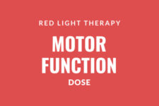 Science study red light therapy motor function