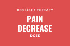Red light therapy pain decrease dose