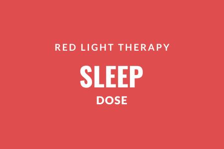 Study red light sleep dose