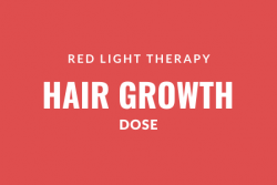 red light therapy for hair growth dose