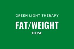 Green light therapy fat loss dose