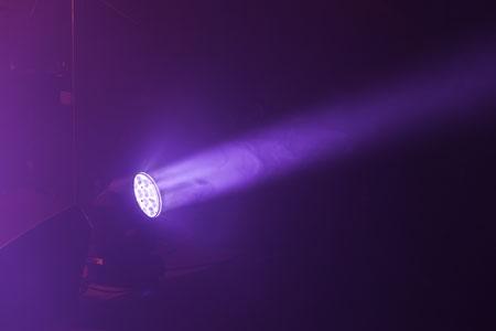 Purple beam of light