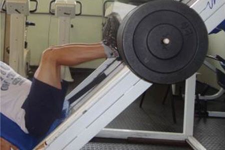 Twin leg press exercise