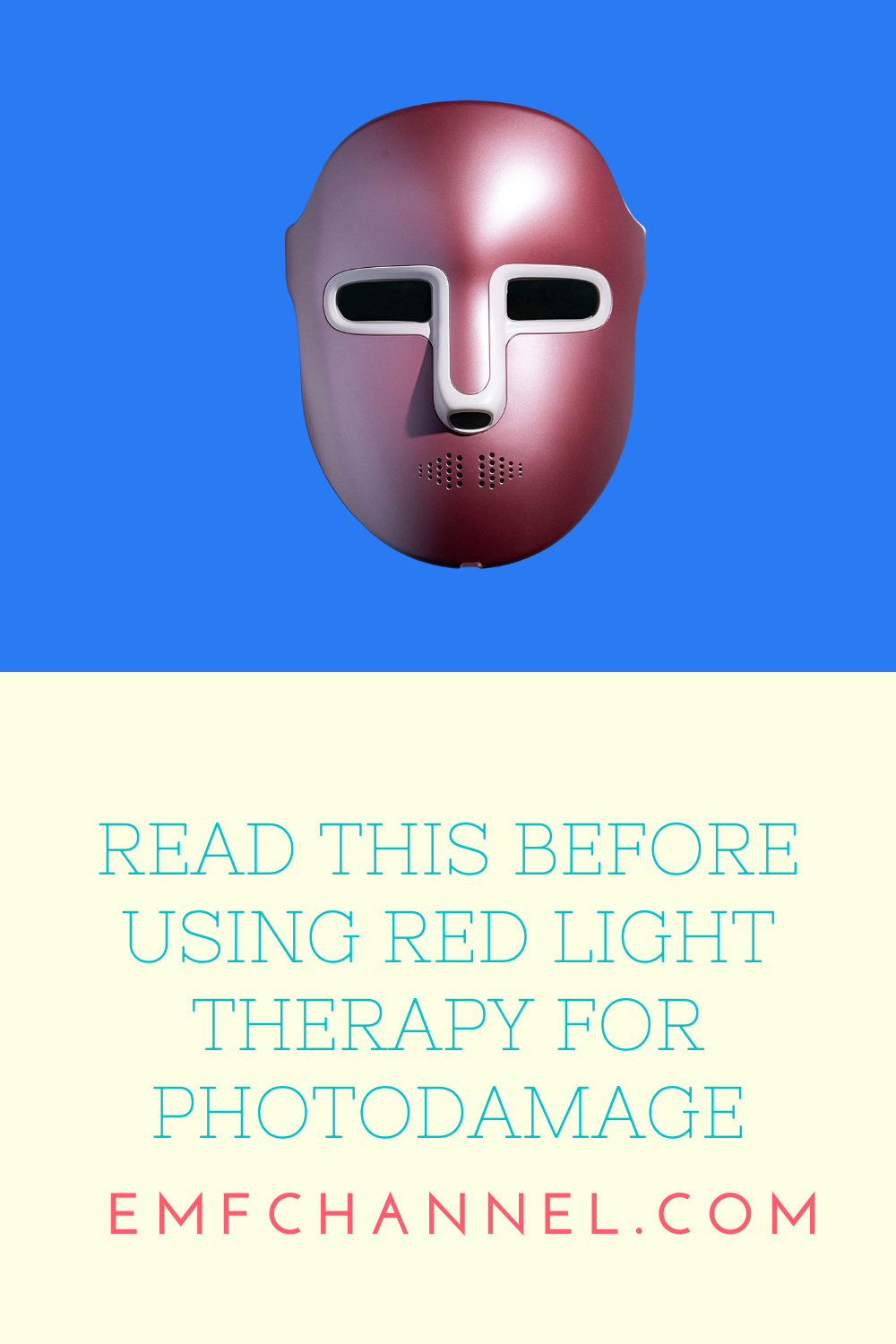 Read This Before Using Red Light Therapy for Photodamage