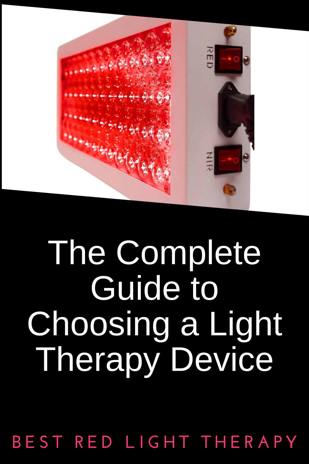 Complete guide to red light therapy device